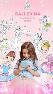 Ballerina Coloring Book Glitter – Girl Games 1