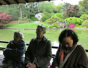 Photo: It was a spectacular day in the Japanese garden — and the poetry was good too.