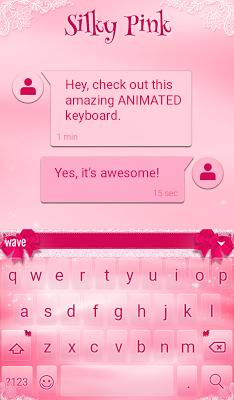 Silky Pink Animated Keyboard - screenshot