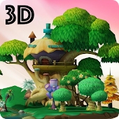 3D Cartoon Park live wallpaper