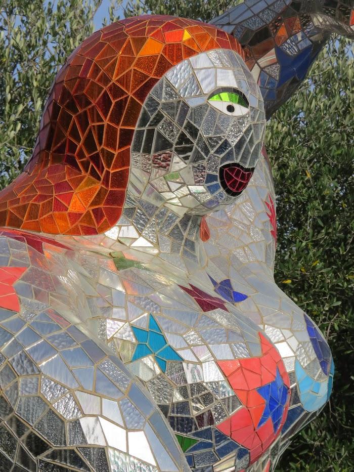 Niki de Saint Phalle, La Stella (particolare), Giardino dei Tarocchi, Capalbio