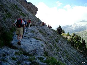 Photo: Pisadas por la roca.