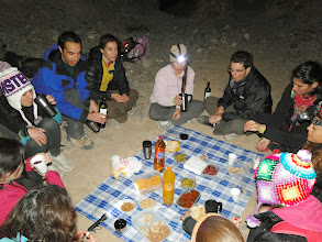 Photo: Picadita Cuyana para finalizar el Trekking con Luna LLena