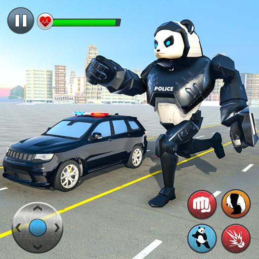 poliziotto panda robot eroe: attacco di polizia
