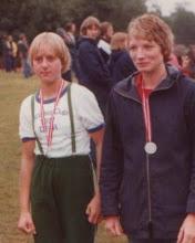 Photo: 1977 Dansk juniormester i dobbeltsculler Jette Sørensen og Lise Justesen Odense Roklub. Haderslev Dam.