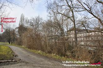 """Photo: Der FFH Rosensteinpark zwischen Löwentor und U-Bahn-Haltestelle """"Rosensteinpark"""" gegenüber Polizei-/Wizemann-Areal"""