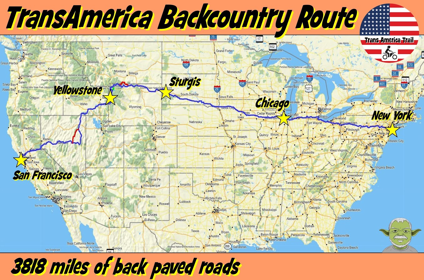 Transamerica Backcountry Route Gpskevin Adventure Rides