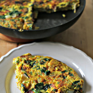 Bacon, Onion & Spinach Frittata