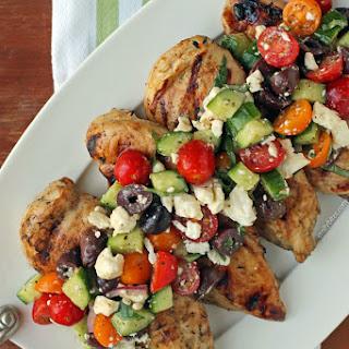 Mediterranean Topped Grilled Chicken.