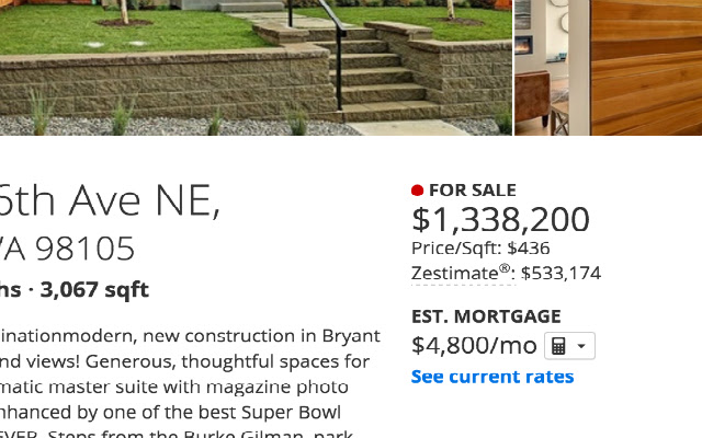 Zillow Price Per Square Foot