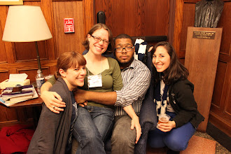 Photo: Kate Gonzales '11, Jessica Johnson '08, Errol Saunders '06, Jenny Reisner '07