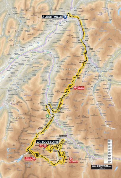 Photo: TdF Etape1 (2012) Route profile - Albertville to La Toussuire