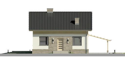 Dom przy Imbirowej 3 N - Elewacja przednia