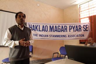 Photo: Dr. Satya Mahapatra delivers the key-note speech
