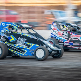 by Stephen  Barker - Sports & Fitness Motorsports ( sprint racing, motion, midget, dirt track )
