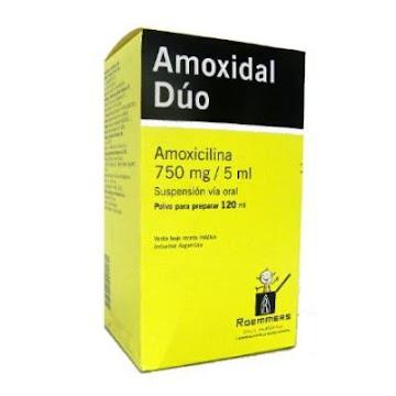 //AMOXIDAL DUO 750MG/5ML   SUS ORAL FCO.X120ML ROEMMERS AMOXICILINA