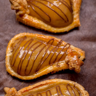 Poached Pears and Nutella Pastries