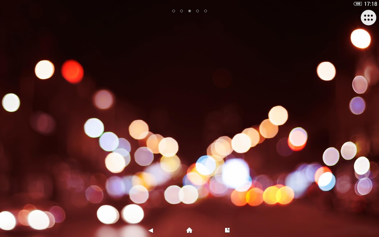 XPERIA™ Bokeh Theme- screenshot