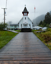 Photo: Hartley Bay is a First Nations community, with boardwalks instead of roads.