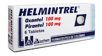 **Helmintrel 100mg   Tabletas Caja x6Tab. Biochem Oxantel Pirantel