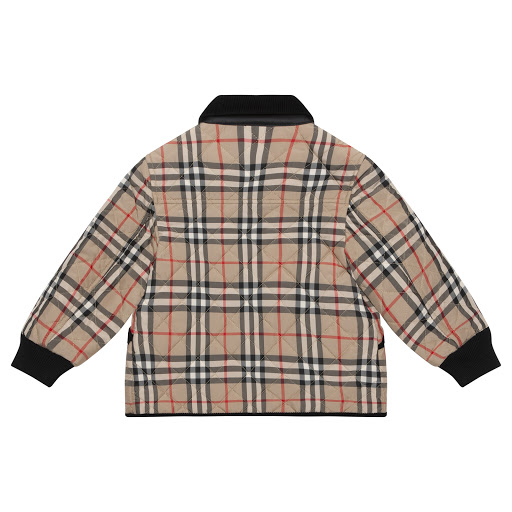 Thumbnail images of Burberry Beige Checked Jacket