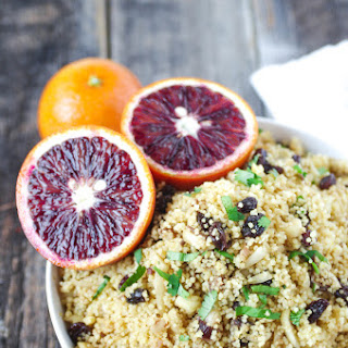 Blood Orange Couscous with Almonds, Raisins + Dates Recipe