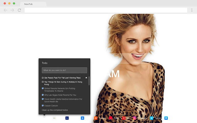 Dianna Agron Pop HD Star New Tab Page Theme