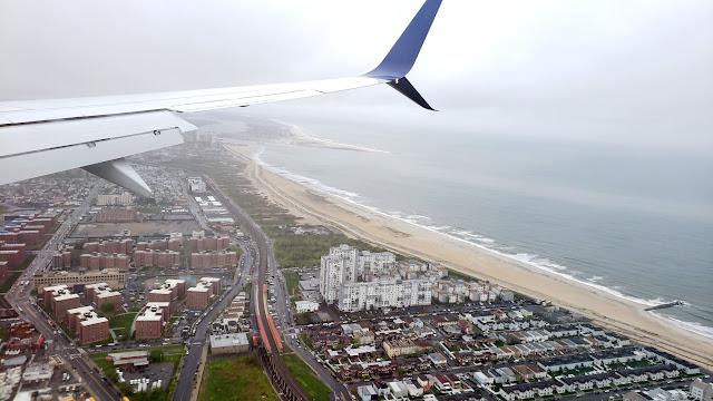 Rockaway Beach on the approach to JFK