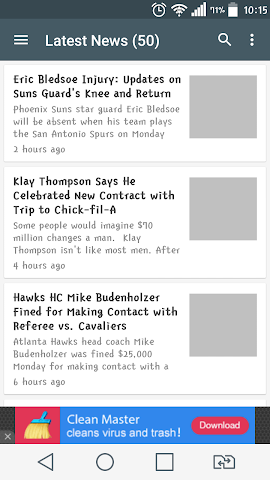 android Amazing NBA News Screenshot 0