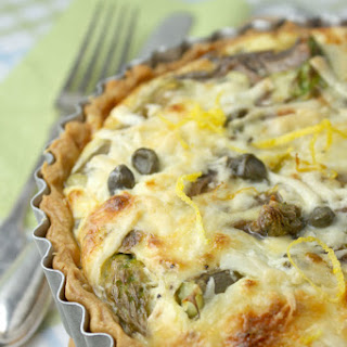 Asparagus, Anchovy, Lemon And Caper Quiche – And A Book Giveaway