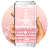 Pink lace wedding keyboard