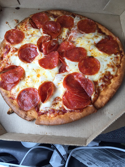 The pepperoni is a little stacked up, aside from that, looks good! Will add review after today to see if I get sick!