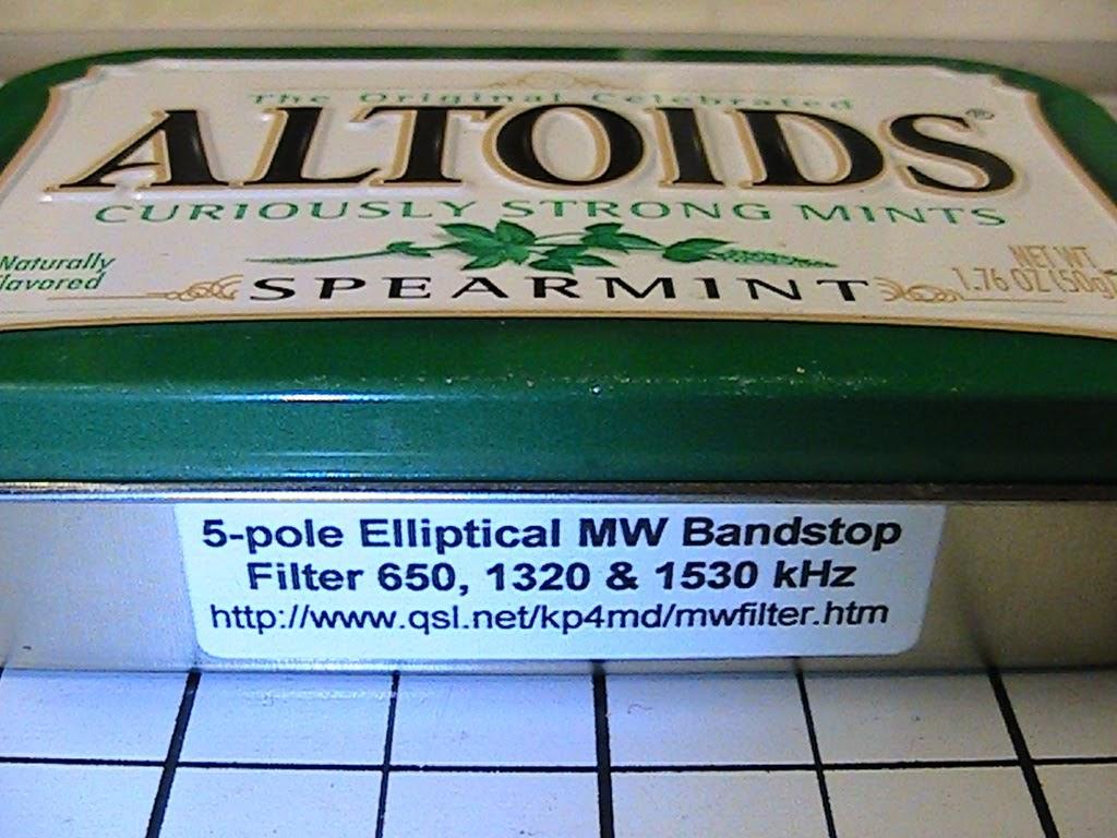 5 Pole Elliptical Bandstop Filter