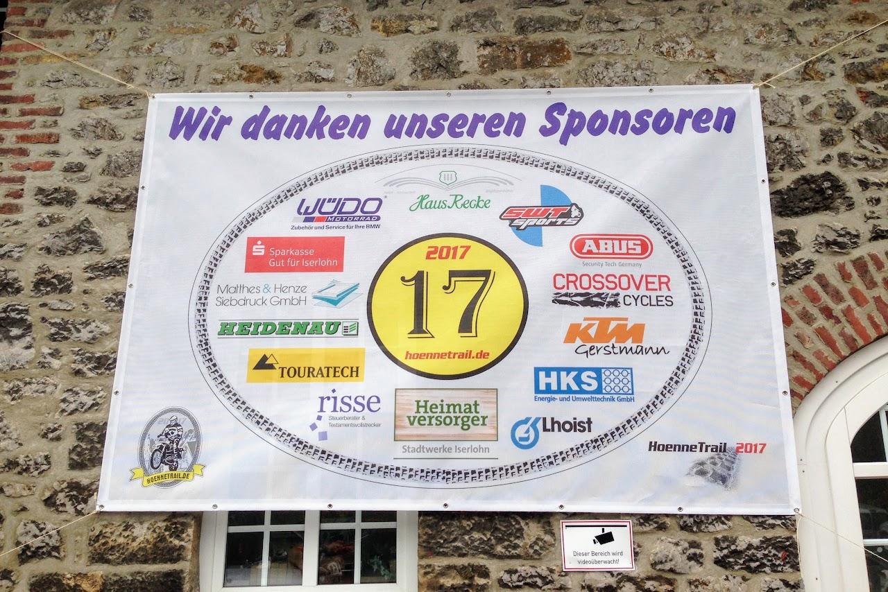 Hönnetrail 2017 im Sauerland - Die Sponsoren