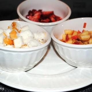 Sweet Strawberry and Peaches Verrine