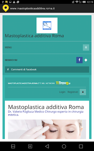 Mastoplastica additiva Roma