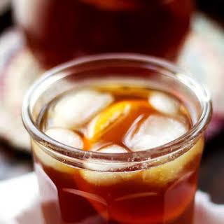 Homemade Orange Flavored Iced Tea.