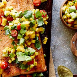 Cedar Plank Salmon with Mango Salsa