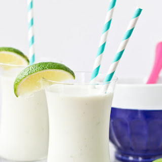 Coconut, Lime and White Chocolate Milkshake.