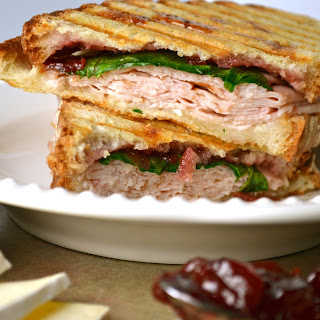 Turkey Panini with Brie and Cherry Preserves.