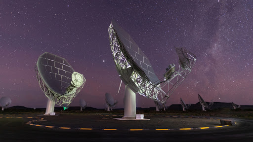 South Africa's MeerKAT telescope is a precursor to the Square Kilometre Array. (Photo source: SARAO)