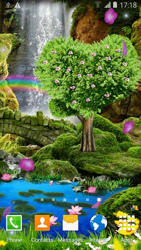 Водопад Романтические Обои скачать на планшет Андроид