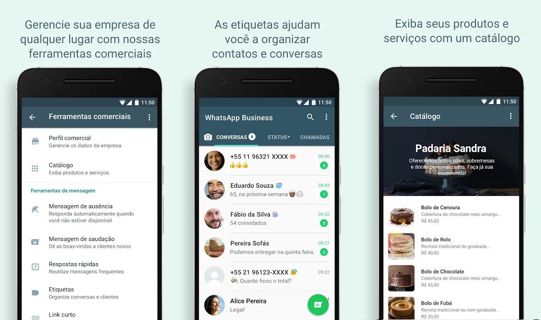 recursos do whatsapp business
