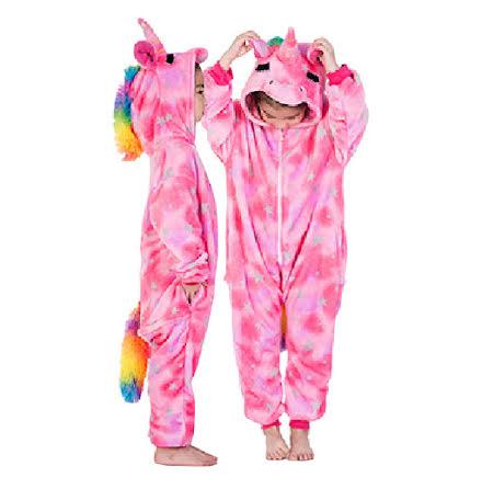 Barndräkt, enhörning rosa 110/116 cl