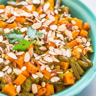 Roasted Butternut Squash Green Bean Casserole.