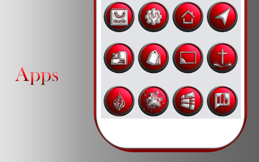 Download Orbic Red Icons Pack MOD APK 10