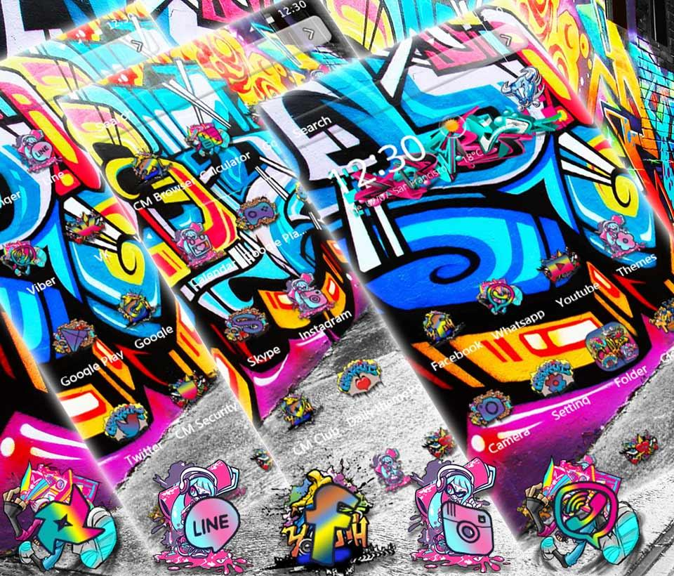 Google themes graffiti - Street Graffiti Theme Screenshot