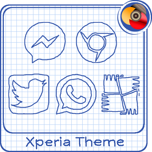 Sheet of notebook | Xperia™ Theme + icons app for Android