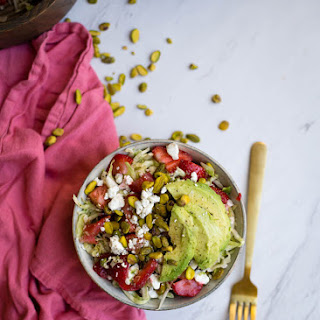Strawberry Pistachio Green Cabbage Salad.