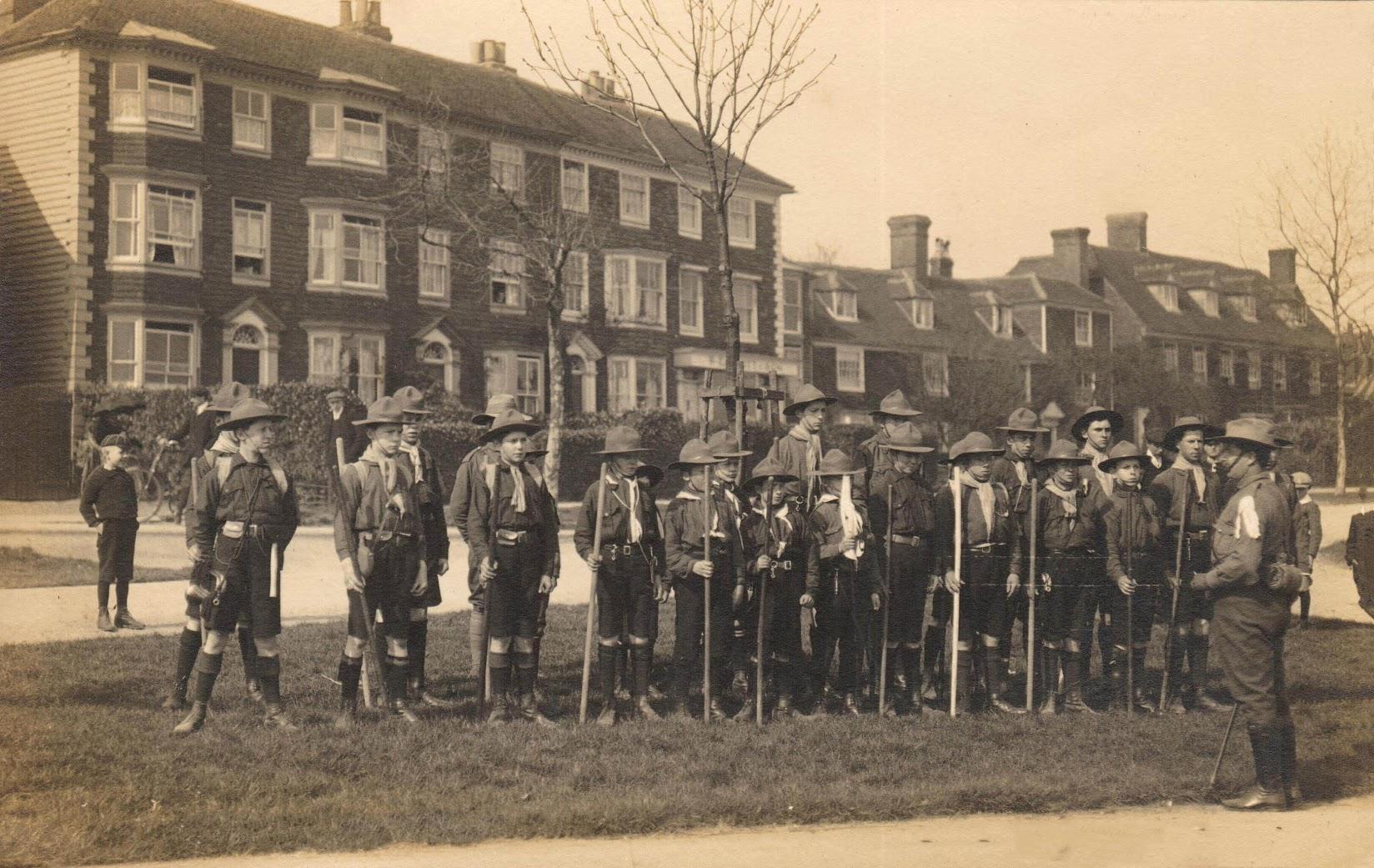 Boy Scouts, Tenterden Troup 28 March 1910